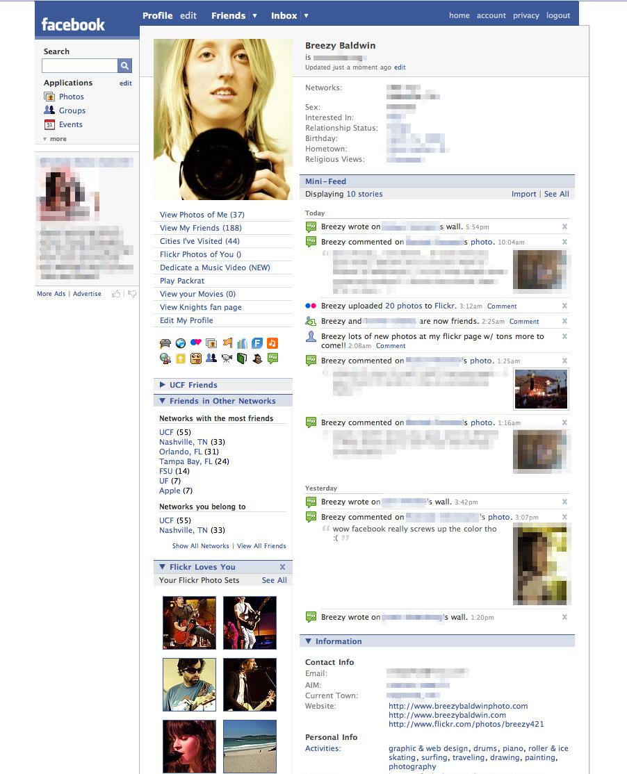 old facebook profile